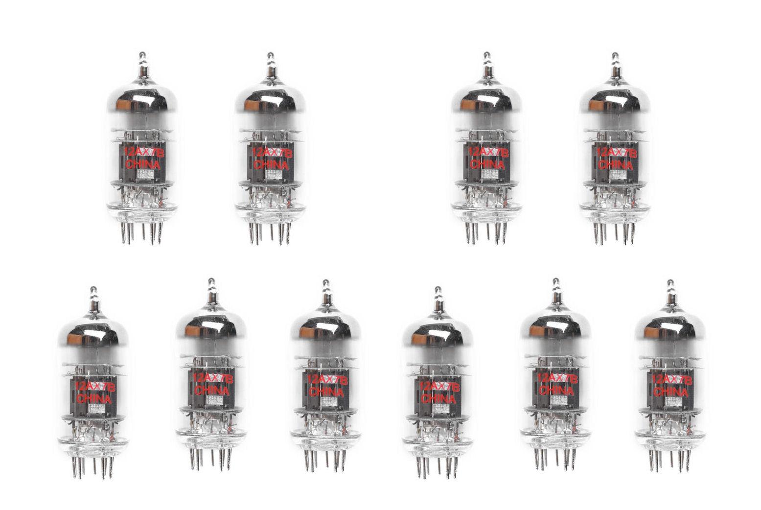 12ax7 ecc83 7025 10 v u00e1lvula de tubo kit para guitarras