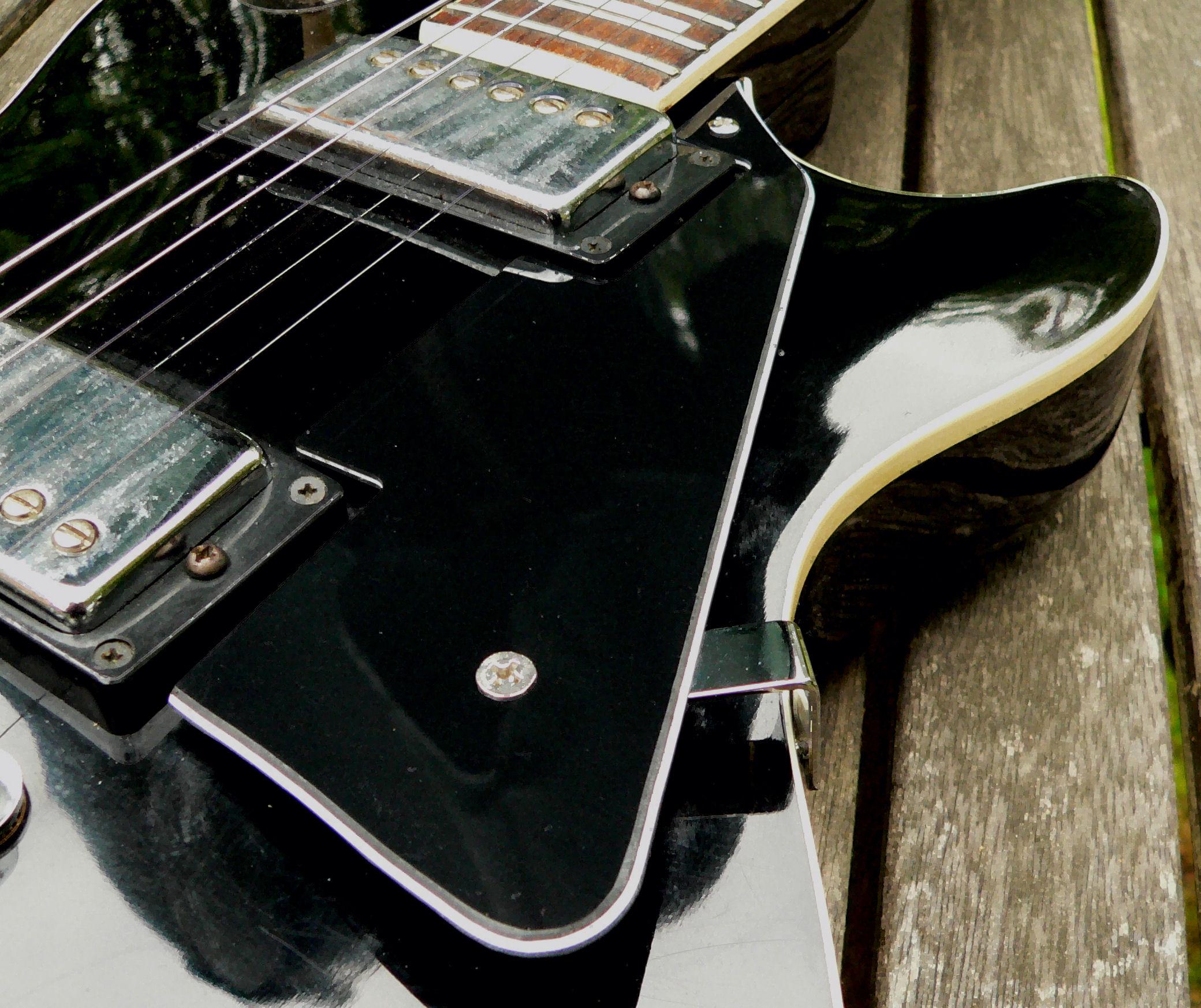 black zebra 3 ply scratchplate pickguard bracket for gibson les paul lp guitar ebay. Black Bedroom Furniture Sets. Home Design Ideas